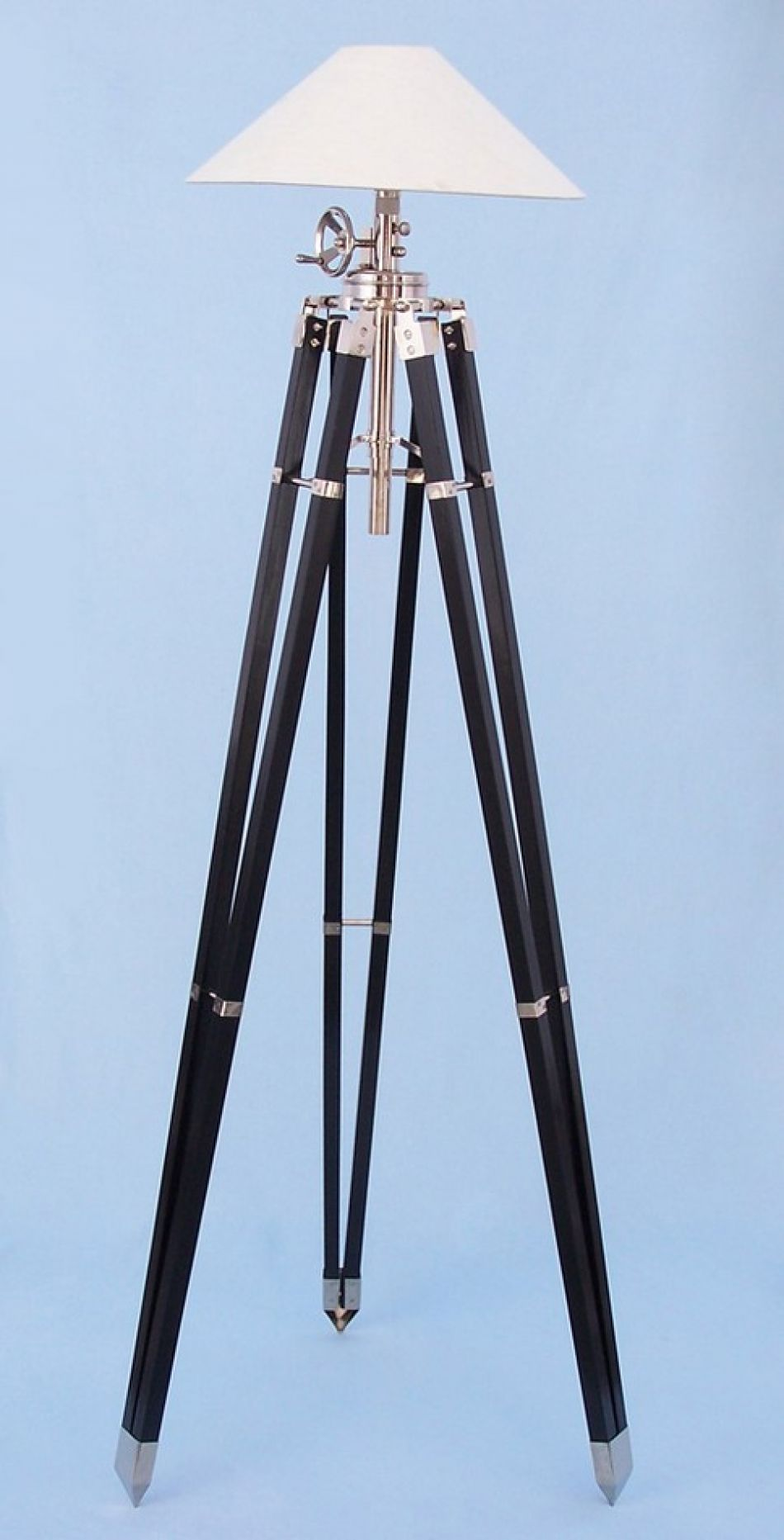 Black Chrome Royal Marine Lamp Stand 70 Quot Tripod Lamps