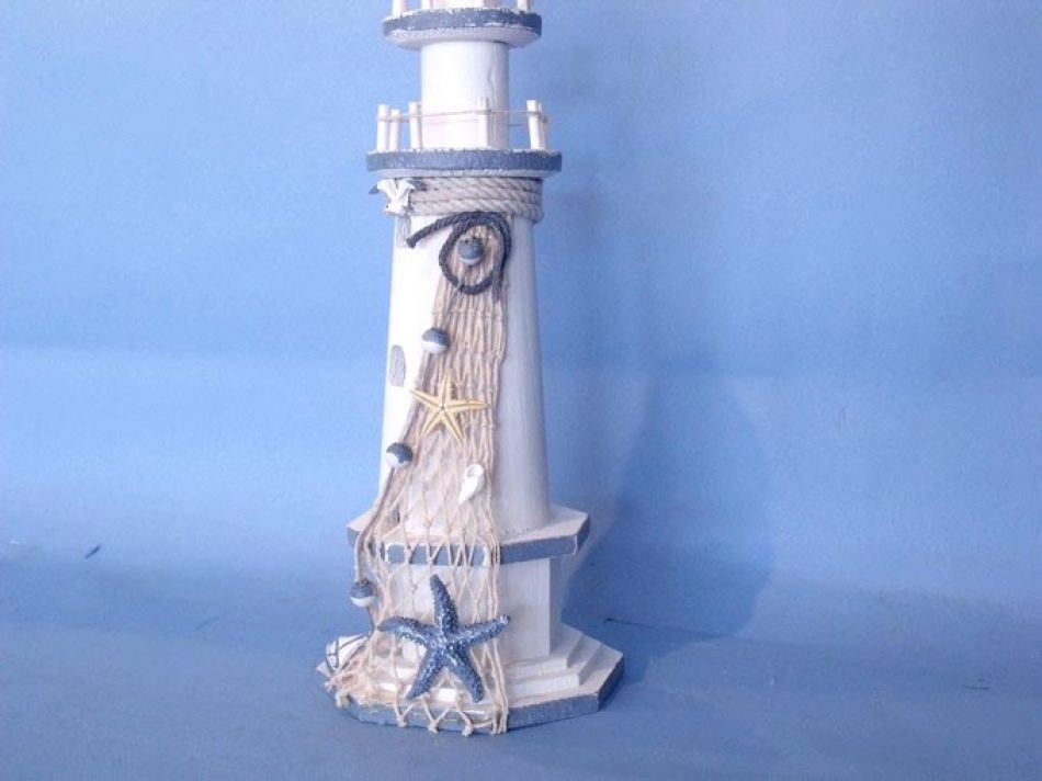 Decorative Wooden Lighthouse Wood Lighthouse Nautical Decoration