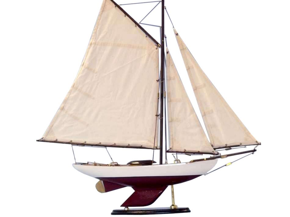 Buy wooden bermuda sloop decoration 26 inch wholesale for Decoration yacht