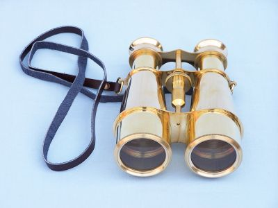 Captains Solid Brass Binoculars 6