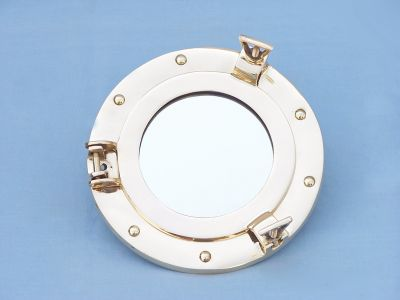 1129 nautical brass porthole mirror 9inch 0 Decorating your Nautical Room