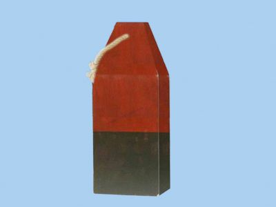Wooden Red Square Buoy 9
