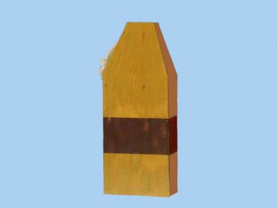Wooden Yellow Square Buoy 9
