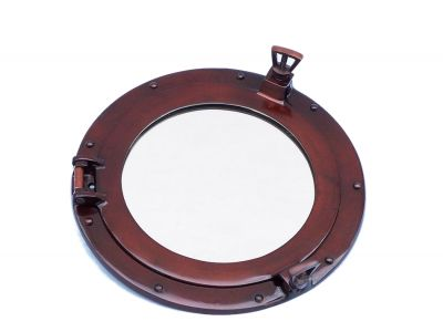 Deluxe Class Antique Copper Porthole Mirror 12