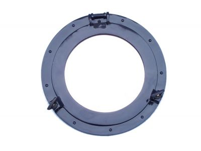Brass Deluxe Class Porthole Mirror 15 - Dark Blue