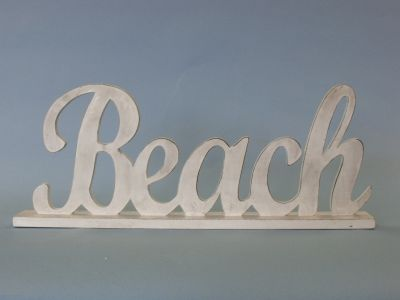 Picture of a Wooden Beach Sign
