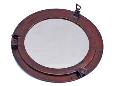 Deluxe Class Antique Copper Porthole Mirror 20
