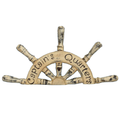 Wooden Captains Quarters Ship Wheel Plaque 19