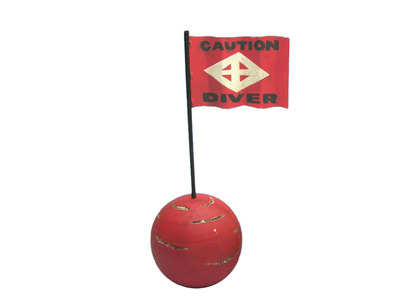 Wooden Caution Diver Signal Buoy 16