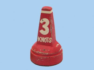 Wooden Red Buoy Floater 4