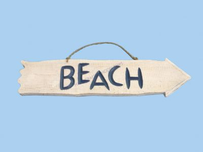 Wooden Beach Arrow Beach Sign 20