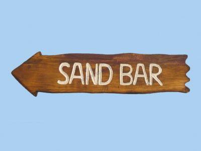 Wooden Beach Arrow Sand Bar Sign 20