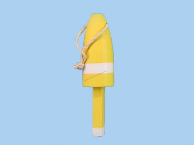Wooden Yellow Lobster Buoy 6
