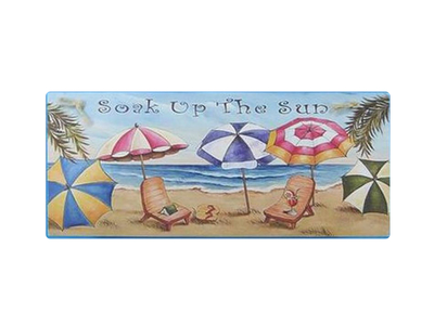 Wooden Soak up the Sun Nautical Wall Plaque 16