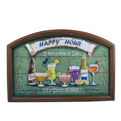 Wooden Happy Hour Wall Plaque 24