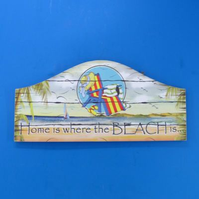 Wooden Home is Where the Beach is Plaque 16