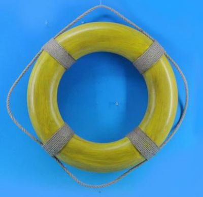 Decorative Yellow Life Ring Wall Plaque 20