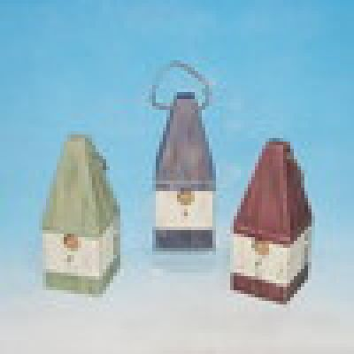 Wooden Buoy Birdhouse 12 - Set of 3