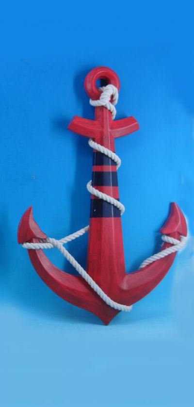Wooden Red Boat Anchor 23