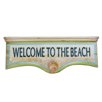 Wooden Welcome to the Beach Wall Plaque 25