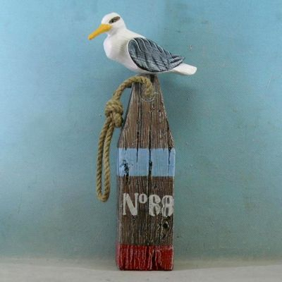 Wooden Seabird on no.68 Blue Buoy 15