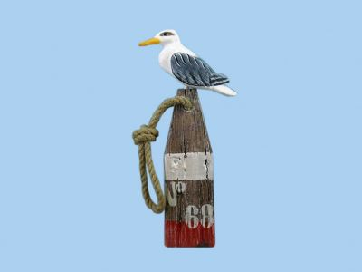 Wooden Seabird on no.68 White Buoy 12