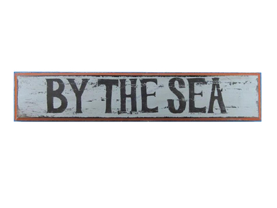 Wooden By the Seaside Nautical Plaque 36""