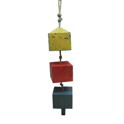Wooden 3 Square Buoys on a Rope 24