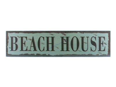 Wooden Beach House Beach Life Sign 24