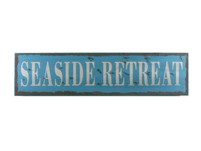 Wooden Seaside Retreat Beach Life Sign 24