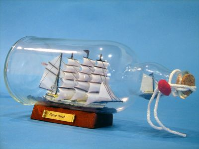 Ship in a Bottle - Flying Cloud Model