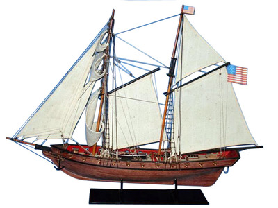 Wooden Prince de Neufchatel Model Ship 24""