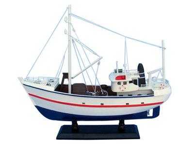 """Wooden Fine Catch Model Boat 17"""""""