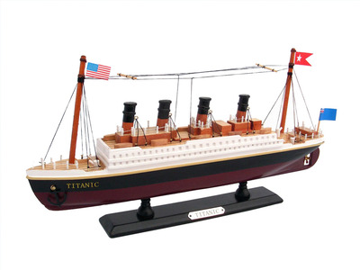 Wooden RMS Titanic Model Cruise Ship 14""