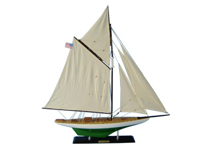 Wooden Reliance Limited Model Sailboat Decoration 33""