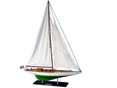 Wooden Shamrock Limited Model Sailboat Decoration 35""