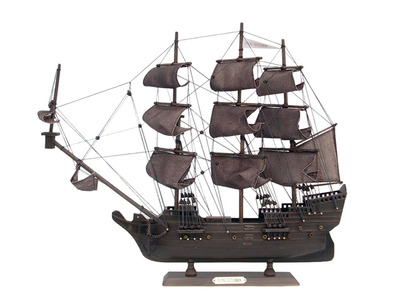 Wooden Flying Dutchman Model Pirate Ship 20""