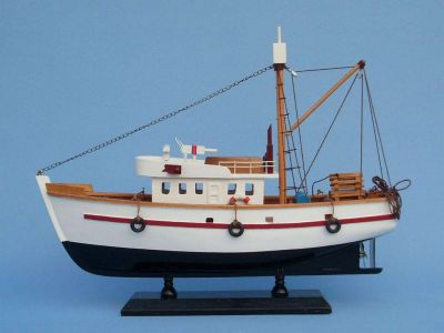 Wooden Fish Stalker Model Fishing Boat 14""