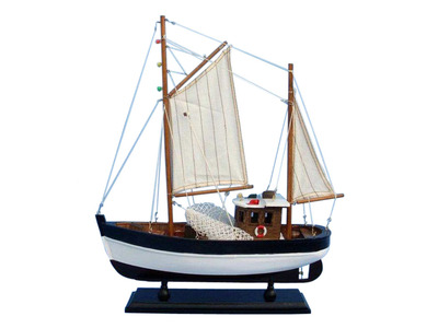 Wooden Outcast Model Fishing Boat 18""