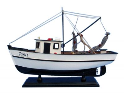 Wooden Forrest Gump - Jenny Model Shrimp Boat 16""