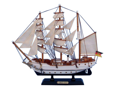 Wooden Gorch Fock Tall Model Ship 14""