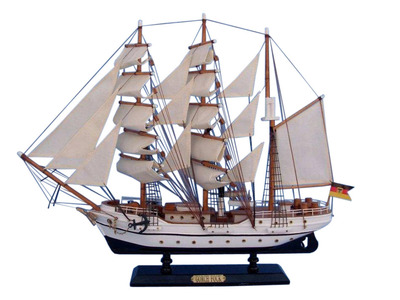 Wooden Gorch Fock Tall Model Ship 20""