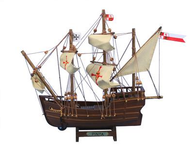 "Wooden Pinta Model Ship 12"""