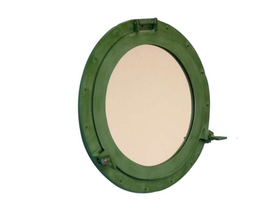 Aluminum Sea-Worn Porthole Mirror 17