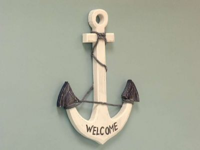 Wooden Welcome Anchor 24