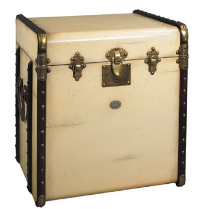 Stateroom Trunk End Table, Ivory 22