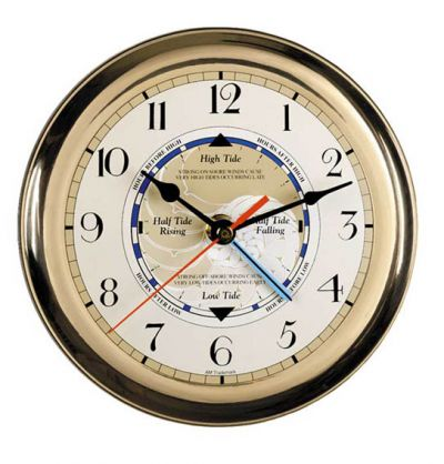 Brass Tide Clock 6.75