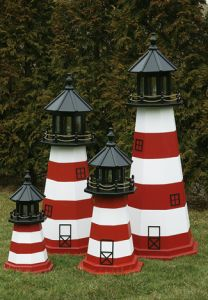 Assateague Electric Painted Wooden Lighthouse 60