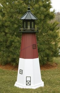Barnegat Electric Painted Wooden Lighthouse 60