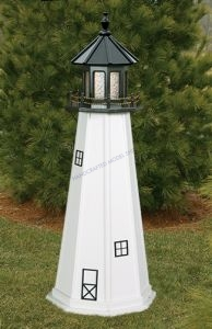 Cape Cod Electric Painted Wooden Lighthouse  48